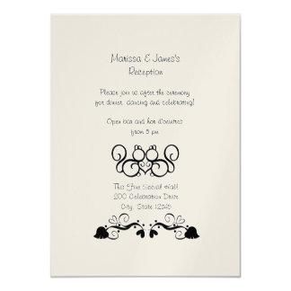 Squirrel Love Wedding Reception Card
