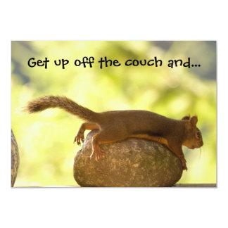 Squirrel Lying Down Photo 5x7 Paper Invitation Card