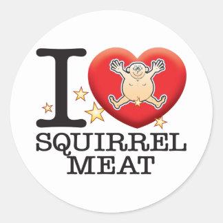 Squirrel Meat Love Man Classic Round Sticker