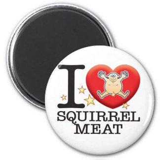 Squirrel Meat Love Man 6 Cm Round Magnet