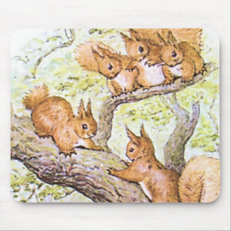 Squirrel Meeting Mouse Pad