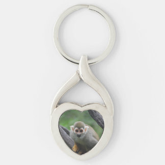 squirrel-monkey-8.jpg llavero plateado en forma de corazón