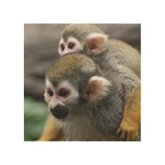 Squirrel Monkey Affair Wood Print
