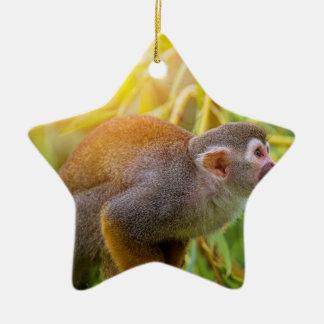Squirrel Monkey Ceramic Ornament