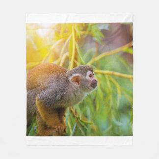Squirrel Monkey Fleece Blanket