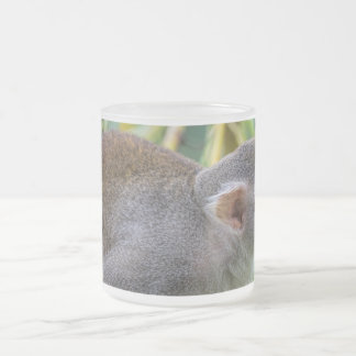 Squirrel Monkey Frosted Glass Coffee Mug