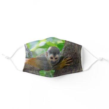 Squirrel monkey in Manuel Antonio NP - Costa Rica Cloth Face Mask