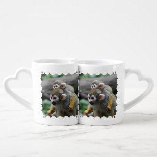 Squirrel Monkey Couples' Coffee Mug Set