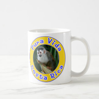 Squirrel Monkey, Pura Vida, Costa Rica Classic White Coffee Mug