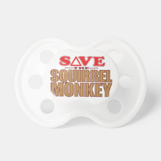 Squirrel Monkey Save Pacifier