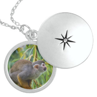 Squirrel Monkey Sterling Silver Necklace