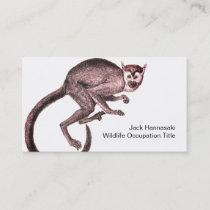 Squirrel Monkey Wildlife Occupation Business Card