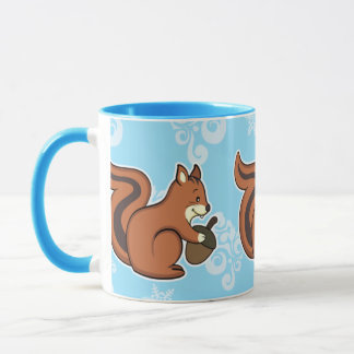Squirrel mug blue