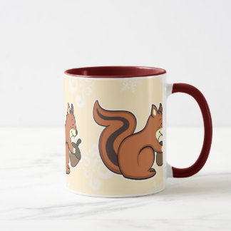 Squirrel mug brown
