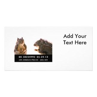 Squirrel Mug Shot Card