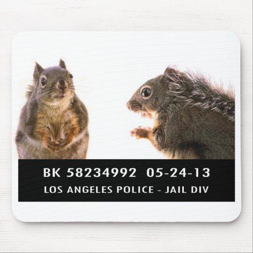 Squirrel Mug Shot Mouse Pad