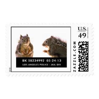Squirrel Mug Shot Stamp