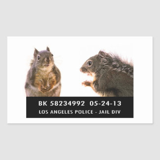Squirrel Mug Shot Sticker