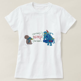 Squirrel Ninja / Ninja Squirrel Cartoon T-Shirt