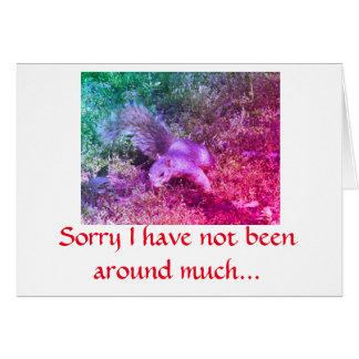 Squirrel note card