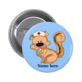 Squirrel Nurse Button