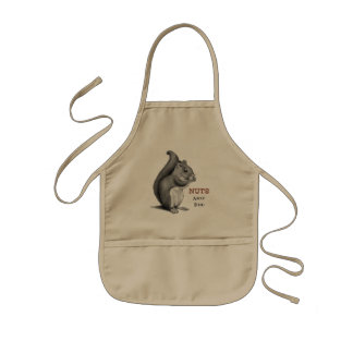 Squirrel: Nuts About Food: Original Pencil Drawing Kids' Apron