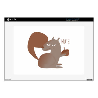 """Squirrel Nuts! Decals For 15"""" Laptops"""