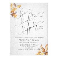 SQUIRREL & OAK | Happily Ever After Rehearsal Invitation