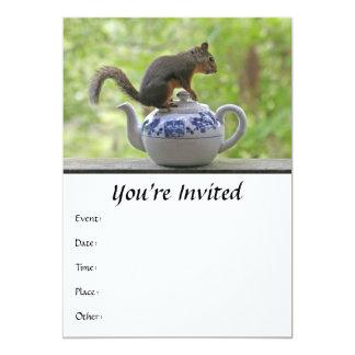 Squirrel on a Teapot Card