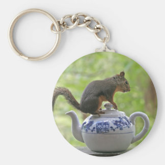 Squirrel on a Teapot Keychains