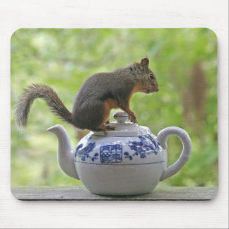 Squirrel on a Teapot Mousepads