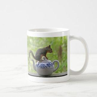 Squirrel on a Teapot Classic White Coffee Mug