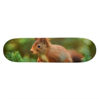 Squirrel on a tree skateboard deck