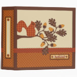 Squirrel on Branch Applique-look Thanksgiving Binders