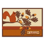 Squirrel on Branch Applique-look Thanksgiving Business Cards