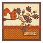 Squirrel on Branch Applique-look Thanksgiving Invites