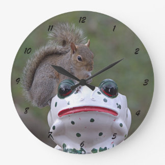 Squirrel on Frog - Clock