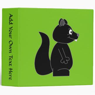 Squirrel on Green Background 3 Ring Binder