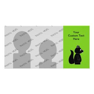 Squirrel on Green Background Photo Card