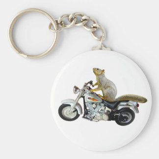Squirrel on Motorcycle Keychain