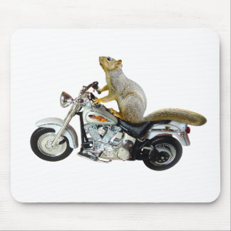 Squirrel on Motorcycle Mouse Pad