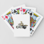 Squirrel on Motorcycle Poker Cards