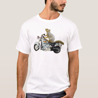 Squirrel on Motorcycle T-Shirt