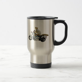 Squirrel on Motorcycle Travel Mug
