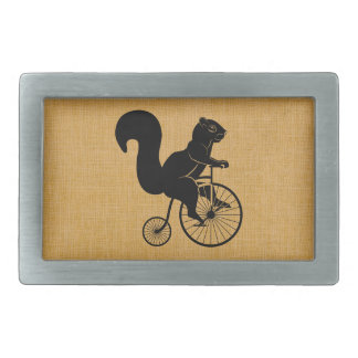 Squirrel on Penny Farthing Bike Belt Buckle