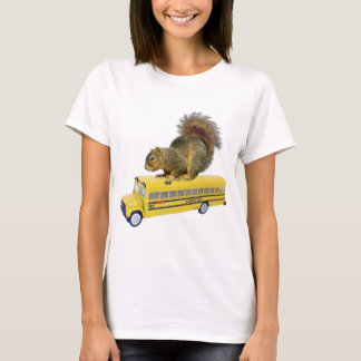 Squirrel on School Bus T-Shirt