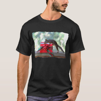 Squirrel Opening Christmas Present T-Shirt