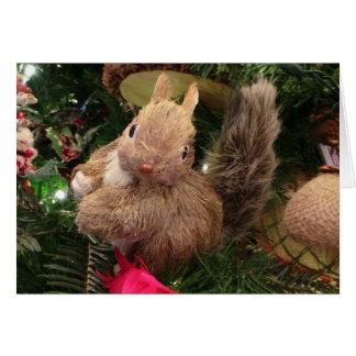 Squirrel Ornament Christmas Card 7x5 Frameable
