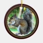 Squirrel Ornaments Encircled by Acorns