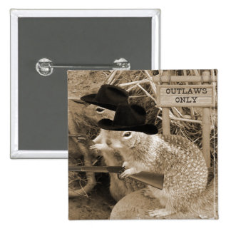Squirrel Outlaws In The Old West Buttons